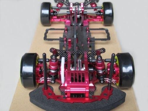 סגסוגת & פחמן סאקורה D3 CS 3R ניתוח RC 1/10 4WD סחיפה מרוצי מכוניות מסגרת קיט 1:10