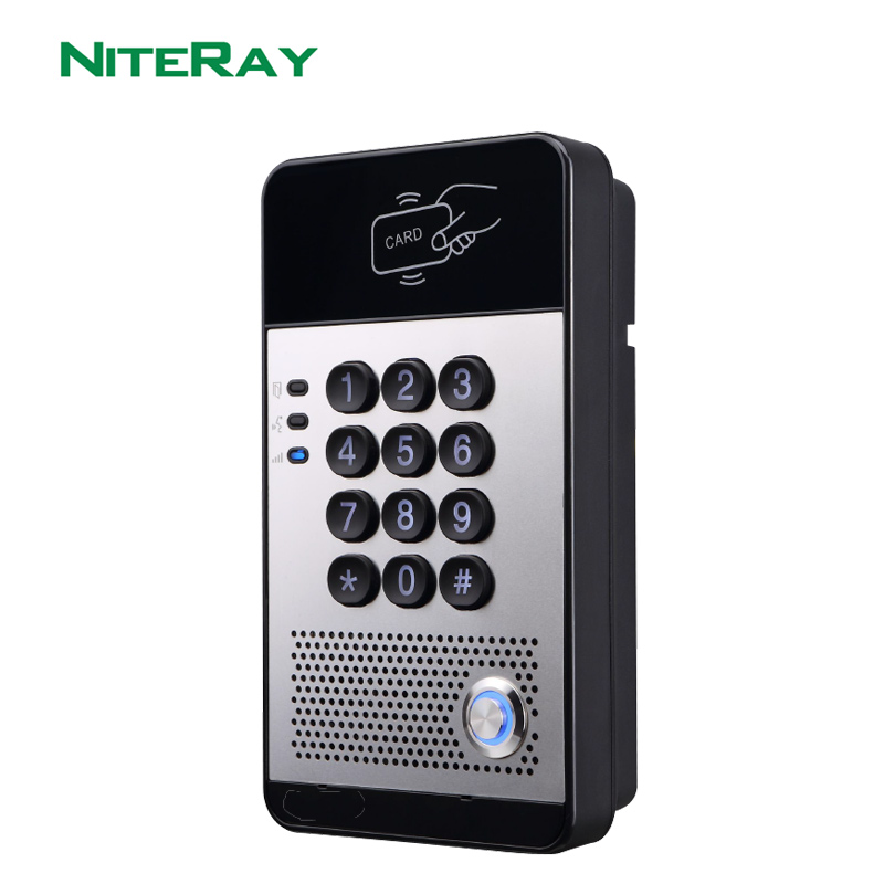 TCP IP Door Access Control SIP Door Bell VoIP Door Phone Audio Intercom System Support PBX With PoE Function
