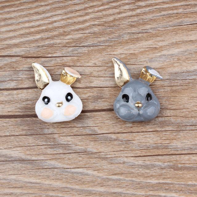 Hair rope pendant accessories DIY Korean jewelry accessories cat head rabbit headlace head rope small pendant