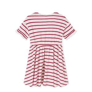Image 5 - Balabala Girls Dress rękaw motylek maluch dziewczyna sukienka z wycięciem na plecach dzieci dzieci dziewczyna letnia sukienka plażowa z falbanką