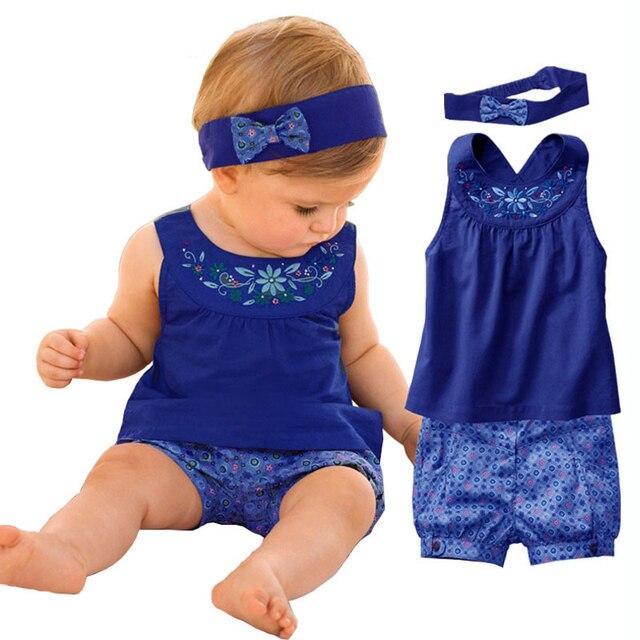 Мода лолита синий детские Vestidos костюмы / детские платок + платье без рукавов + зонтик плед брюки / детская одежда 2016 новый летний