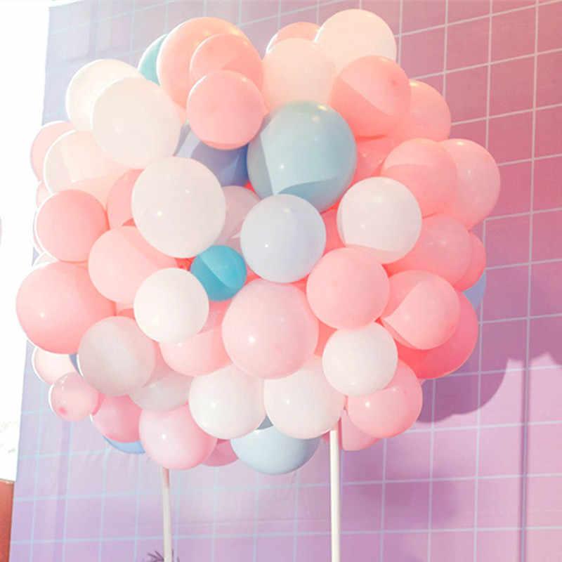 10pcs 12inch 2.2g Macaron Pearl Purple Pink Blue Latex Balloon Birthday Wedding Decor Air Helium Globos Kids Gift Party Supplies