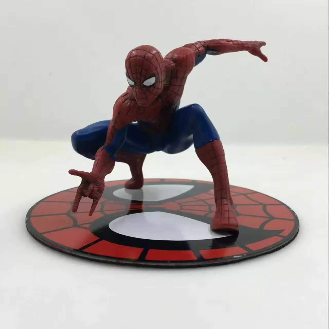 QICSYXJ Gift Marvel Superhero Action Figure Collection The Amazing Spider Man 12cm Squat Spiderman Model Decorations uk standard remote touch switch black crystal glass panel 2 gang 1 way control wall with led indicator makerele