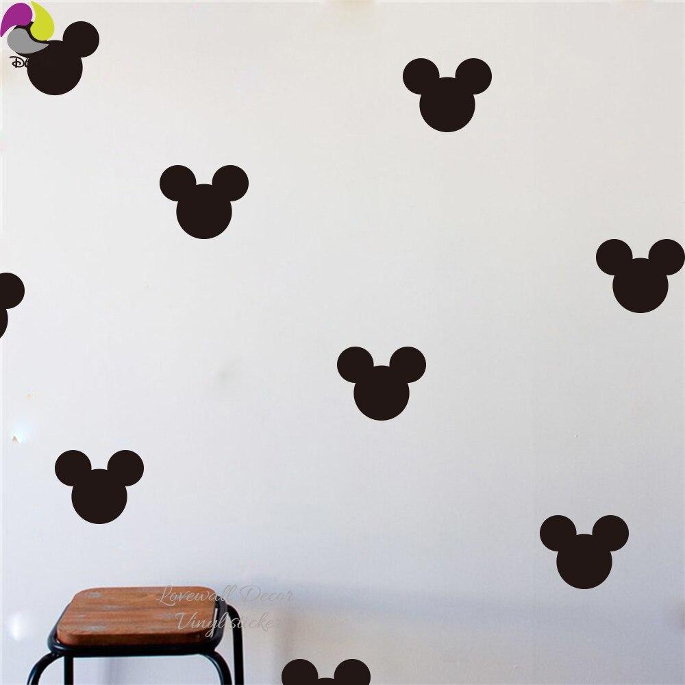 Kartun Mickey Mouse Kepala Wall Sticker Nursery Bayi Lucu Animal