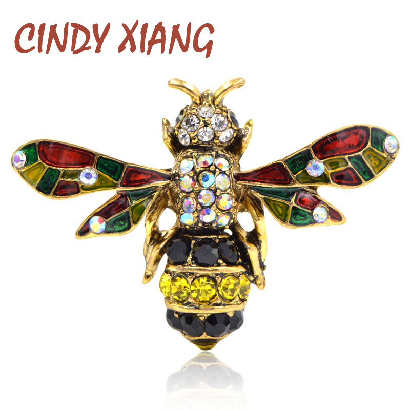 6574a36998301 CINDY XIANG 4 colors choose rhinestone bee brooches for women vintage  insect brooch pin cute fashion enamel pins new year gift-in Brooches from  ...