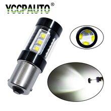 Yccpauto 1156 BA15S белый CREE чип автомобилей Хвост Включите резервного копирования Обратный лампа 16 светодиодных источников лампы 80 Вт DC12V 1 шт. супер яркий