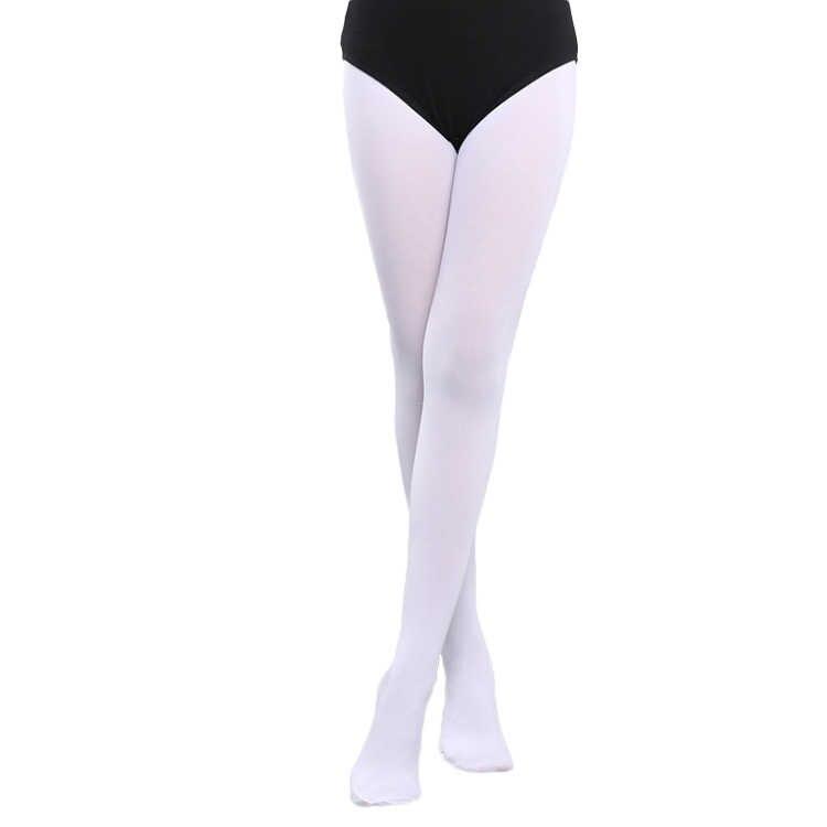 60D/80D/90D çocuk kız profesyonel bale dans tayt yeni beyaz çıplak çocuk naylon tayt jimnastik dans bale külotlu çorap