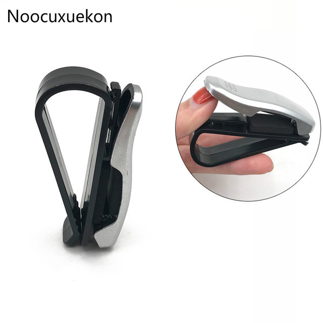 2018 Hot Sale Auto Fastener Clip ABS Car Vehicle Sun Visor Sunglasses Eyeglasses Glasses Holder Ticket Clip Auto Accessories