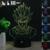 HUI YUAN 3D Humor Lâmpada Night Light RGB Mutável Sun Wukong LEVOU decorativo candeeiro de mesa de luz dc 5 v usb obter um free controle remoto