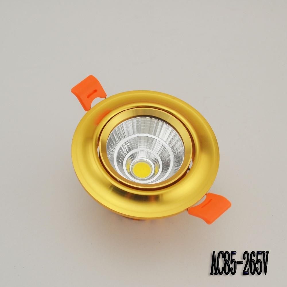 Золотой алюминиевый корпус Newes LED COB Потолочный светильник 5W 7W 10WCOB Чип светодиодный встраиваемый светильник прожектор лампы Бесплатная доставка