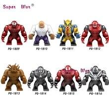 Single Big Size Avengers Infinity War Super Heroes Wolverine Venom Deadpool Agent Kingpin Figure Building Blocks Toys