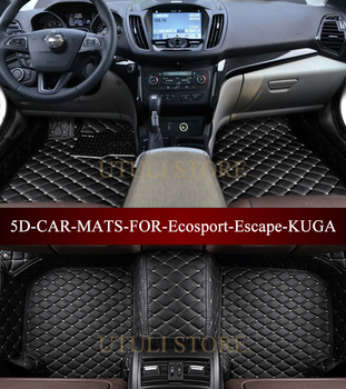 Leather Car floor mats for Ford Ecosport Escape KUGA waterproof custom fit car liners foot mats