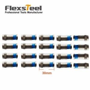 20 штук RG-6 оснастки и уплотнения коаксиальный компрессионный F коннектор, Comcast, DTV & блюдо утвержденный антенный разъем