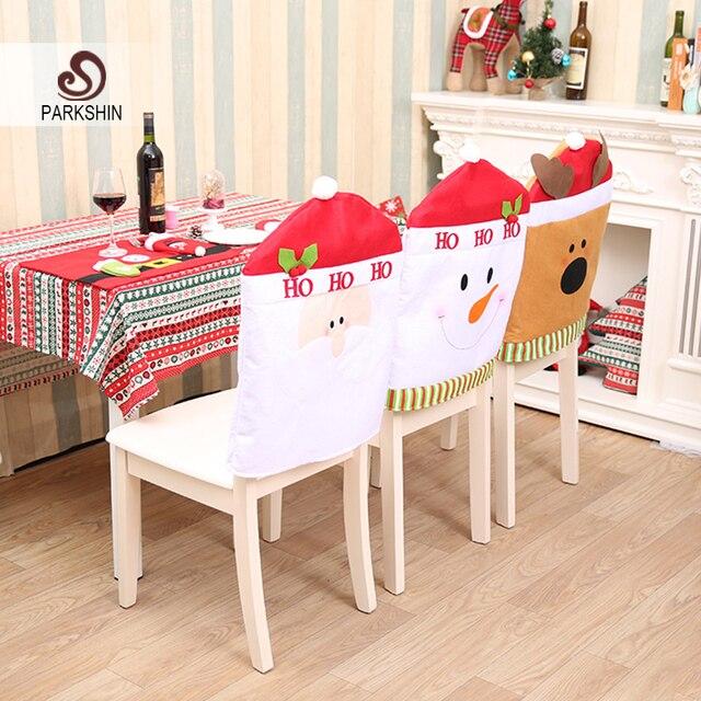 Parkshin Couverture De Chaise De Noel Pere Noel Bonhomme De Neige