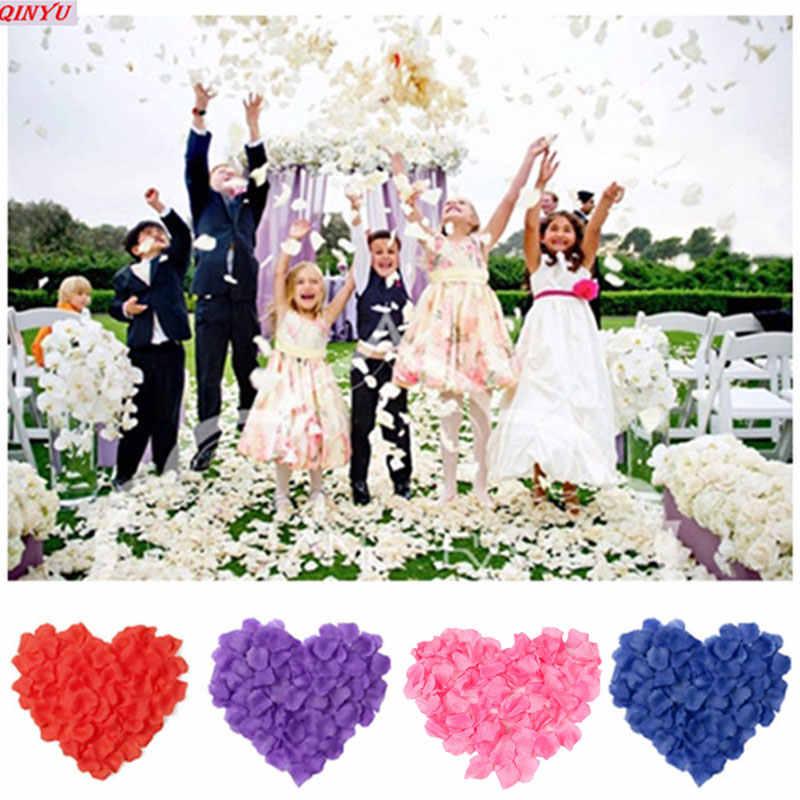 1000 Buah/Banyak Kelopak Buatan Mawar Palsu Kelopak Bunga Gadis Toss Sutra Kelopak untuk Pernikahan Confetti Pesta Dekorasi Acara 5zSH012