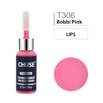 CHUSE Bobbi Pink T306 Permanent Makeup Ink Lips Tattoo Ink Set Microblading Pigment Professional 12ML 0.4oz 5 pcs tattoo ink for lips permanent makeup microblading pigment cosmetic encre tatouage tattoo ink set supplies