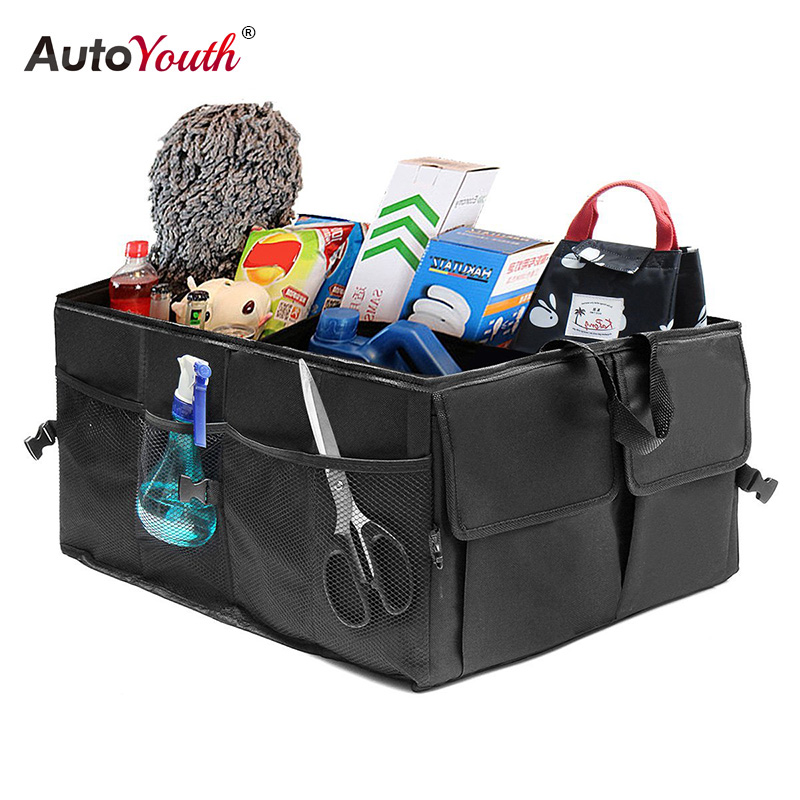 Car Trunk Organizer Eco Friendly Super Strong & Durable Collapsible Cargo Storage Box For Auto Trucks SUV Trunk Box / Box-in Stowing Tidying from Automobiles & Motorcycles