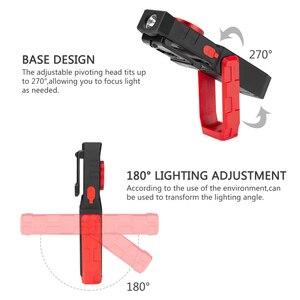 Image 4 - Đèn Rọi Ray COB Từ Ánh Sáng Làm Việc USB Sạc Đèn Pin Kiểm Tra Ánh Sáng Đèn Pin Tiện Dụng Di Động Đèn Lồng Có Móc Điện Di Động Ngân Hàng