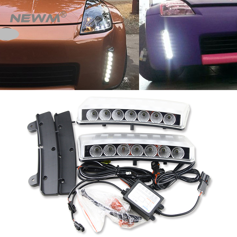For Nissan 350Z 03-05 LED DRL Daytime Running Light Switchback Bumper Reflector машинка на радиоуправлении nikko 800001 nissan 350z
