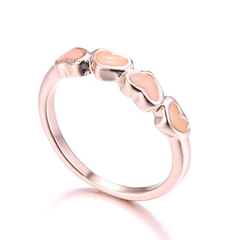 mujeres amor de joyera de moda anillo anillo anillos de boda original luminoso que brilla