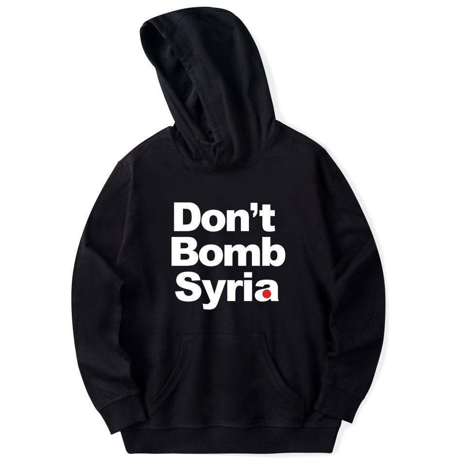 Don't Bomb Syria Print Hoodies Sweatshirts Women/men XXS To 4XL Fashion Good Print Hip Hop Style Popular Clothes