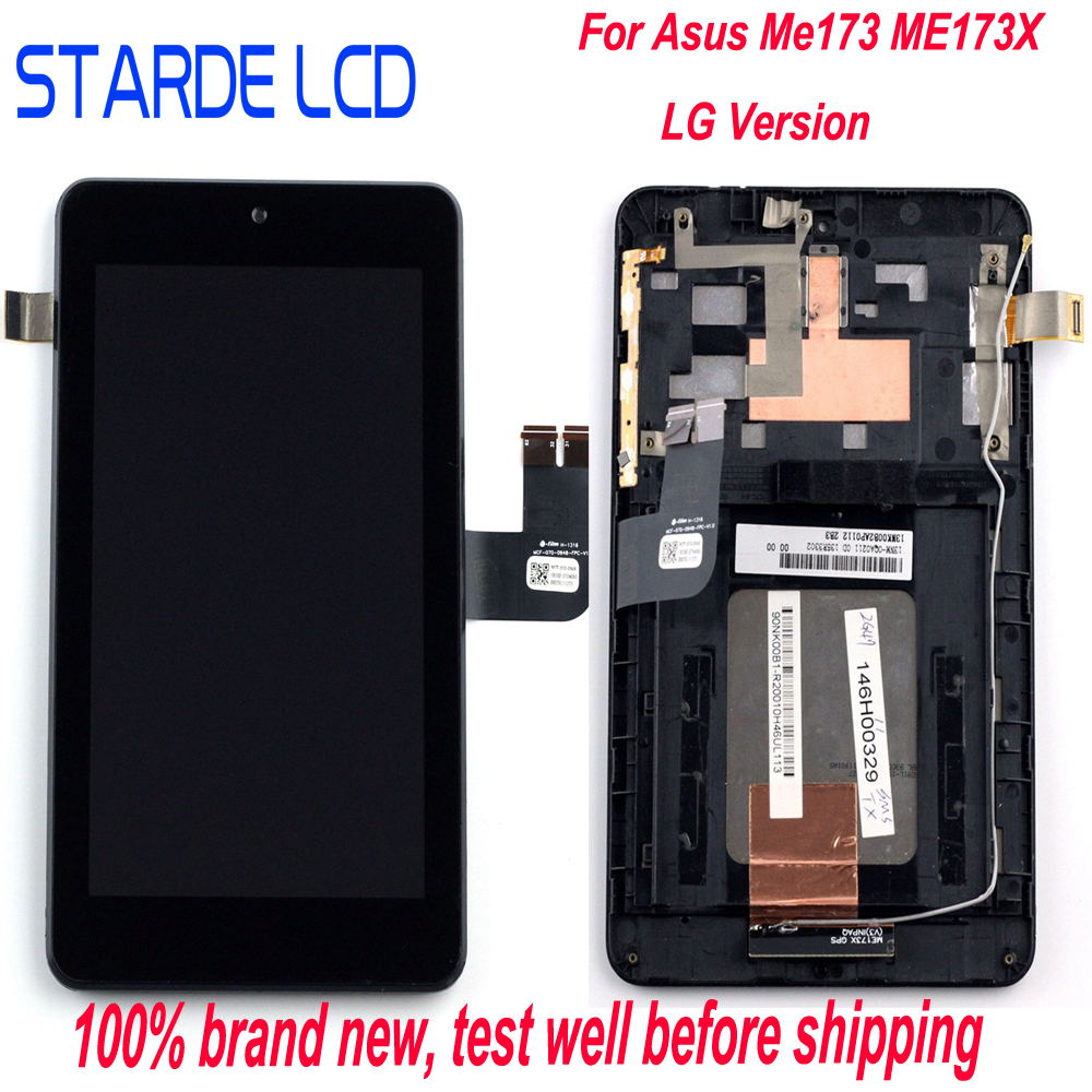 For Asus Memo Pad HD7 ME173 ME173X K00B LCD Display Touch Screen Digitizer Assembly With Frame N070ICN -GB1 LD070WX4-SM01