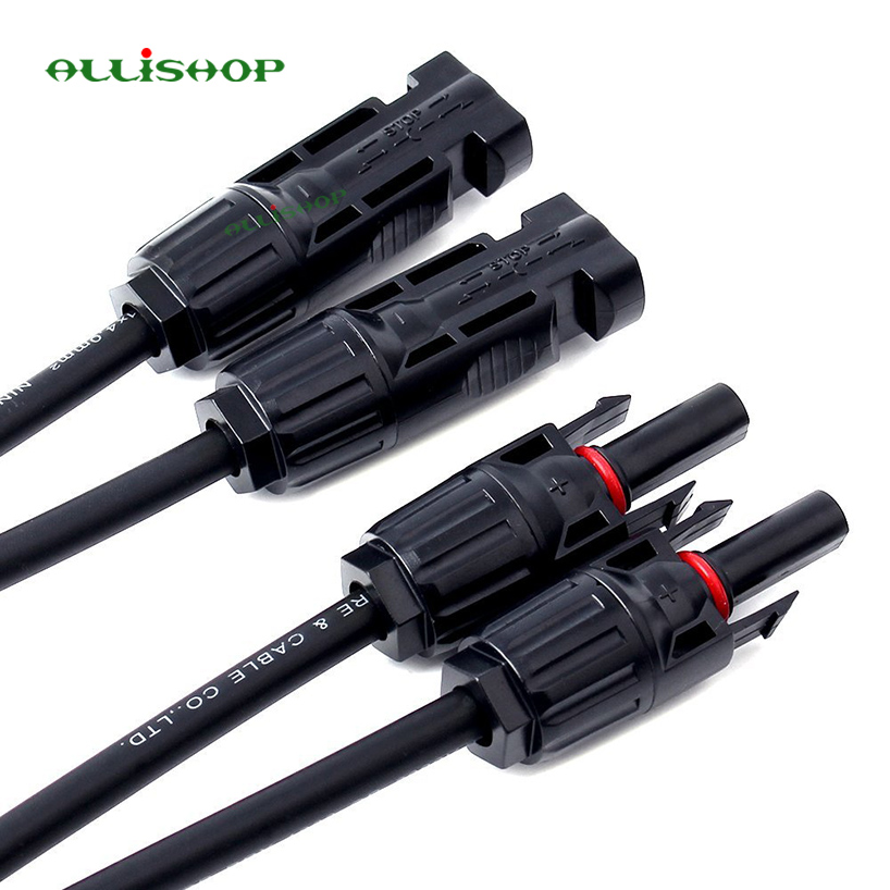 Y Branch MC4 Parallel Connector Adapter Fit for Solar Panel Parallel Connection 1M2F+2M1F