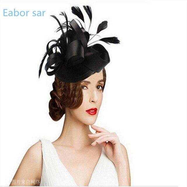Colorido Gothic Mini Top Hat Fascinator em mulher hairpin