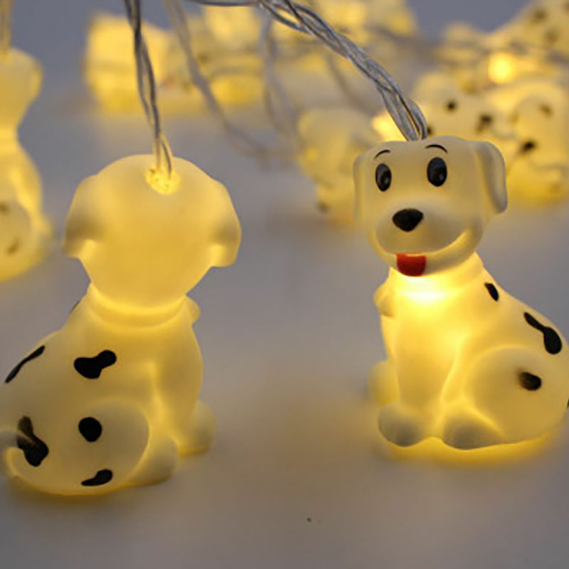 Pet Puppy LED String Light Battery Operated Fairy Lights 10 LED Fantastic Lights for Bedroom Recoration Baby Room Decoration