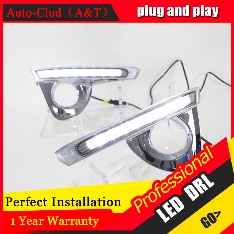 Auto Clud car styling For Toyota crown LED DRL For crown led fog lamps daytime running light High brightness guide LED DRL auto clud car styling for toyota highlander led drl for highlander high brightness guide led drl led fog lamps daytime running l