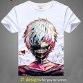 Digital impresso hot anime de Tóquio Ghoul Tokyo Ghoul camiseta roupas Tokyo Ghoul Kaneki Ken-manga curta T-shirt dos homens tshirt