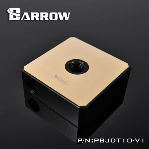 Barrow POM water pump cover for DDC series pump gold titanium plating with POM computer water cooling. PBJDT10-V1 electric engine water pump for 5 series e34 7 series e32 1151 0007 042 11510007042