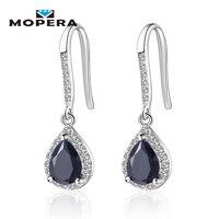 4 Kinds Of Natural Gemstone Drop Earrings Amethyst Garnet Peridot Sapphire Earrings For Women 925 Sterling