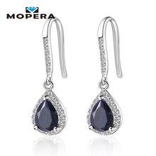 4 Kinds of Natural Gemstone Drop Earrings Amethyst Garnet Peridot Sapphire Earrings For Women 925 Sterling Silver Fine Jewelry