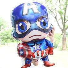 Big 3d Cartoon Heros Ballons Captain AmericaHelium Balloon for Kids Birthday Baby Shower Party Decor Supplies DROP SHIPPING OK