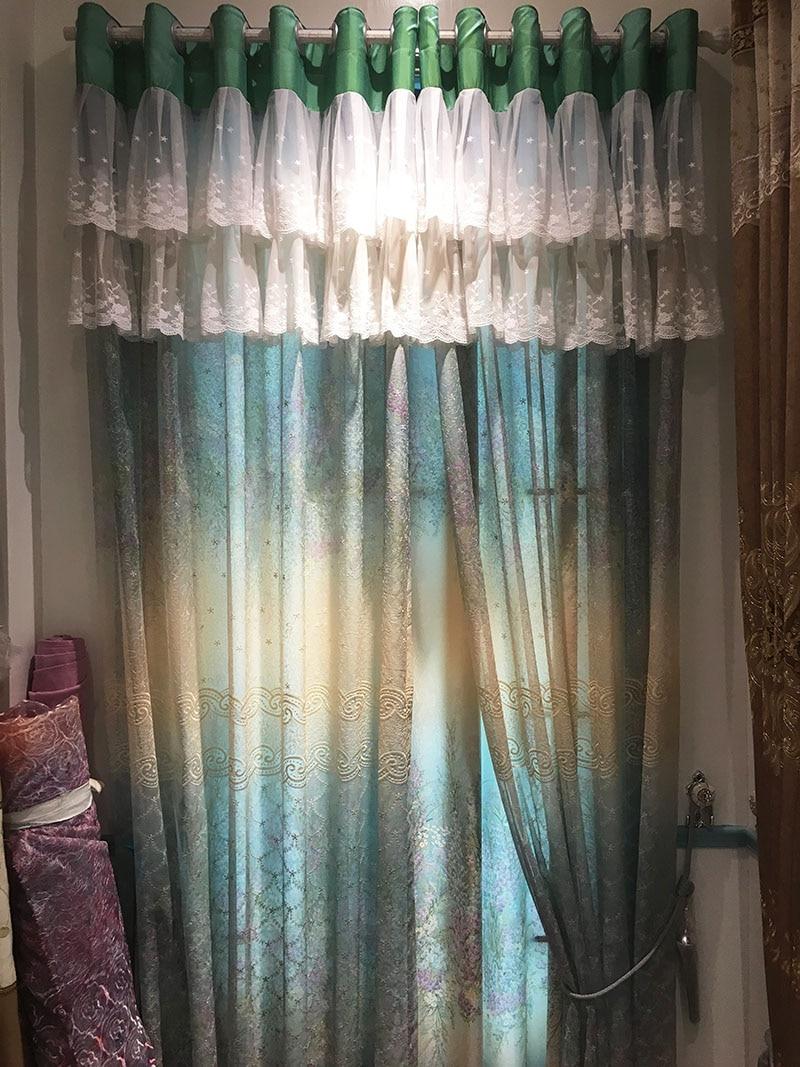 panel de cortinas cortinas dormitorio saln tela de lunares rstico ciego