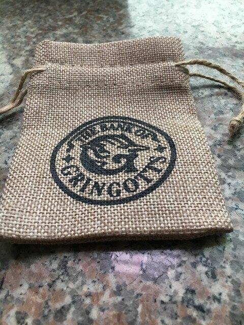 Hogwarts Gringotts Banco Wizarding saco anillos collar regalo saco alta calidad Cosplay accesorios regalo de navidad regalo para niños