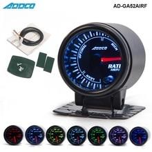 """"""" 52 мм 7 цветов светодиодный датчик дымового лица для автомобиля, автомобильный измеритель соотношения воздушного топлива с держателем AD-GA52AIRF"""