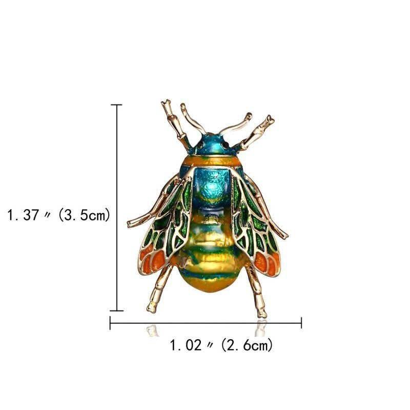 LNRRABC Rhinestone di Cristallo Bee Insetti Spilla Spille Animale Sveglio Risvolto Spille Delle Donne Del Collare Della Ragazza Spilli Distintivi e Simboli Costume Gioielli