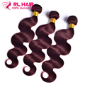 7A Burgundy Peruvian Body Wave 4Pcs Burgundy Peruvian Hair Weave Bundles Red Wine 99J Human Hair Peruvian Virgin Hair Body Wave