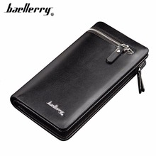 2019 Baellerry Men Wallets Long Zipper PU Leather Phone Pocket Large Capacity Purse Multifunction Classic Male Wallet