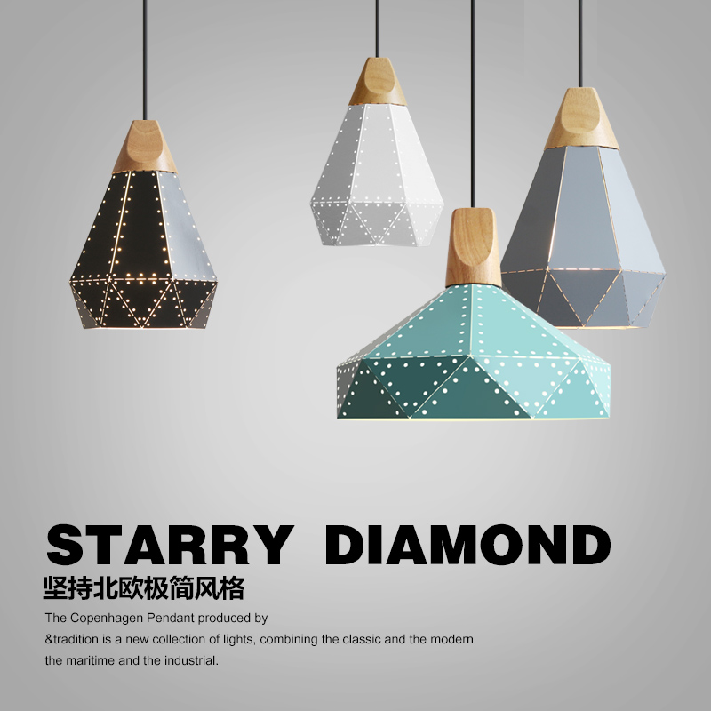 Modern Wood Pendant Lights Iron Minimalist Retro Light Colorful Restaurant Coffee Bedroom Loft Pyramid lamp Metal Cage led free shipping remote control colorful modern minimalist led pyramid light of decoration led night lamp for christmas gifts
