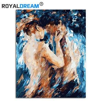 Peinture à l'huile abstraite Sexy nue par numéros sur toile coloration par numéros image modulaire encadrée artisanat pour adultes