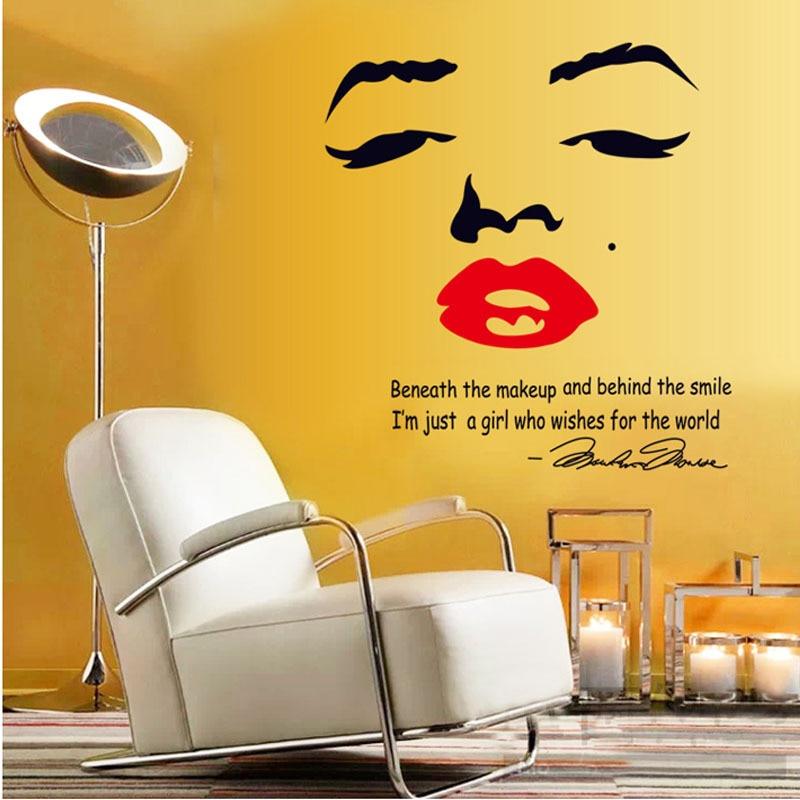 Marilyn Monroe Fashion Wall Sticker European Style Bar Art Home Decor  Living Room W 20