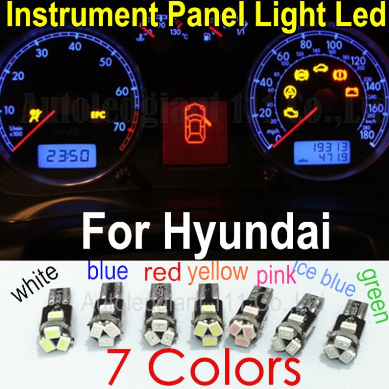 Upgrade 7 Colors Car T5 73 74 286 Wedge Led Dashboard Light