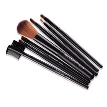 Hot Professional Goat Hair 7Pcs Makeup Brush Set Tools Cosmetic Make Up Brush Set Black Pink