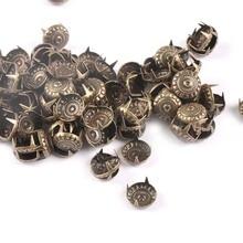 Бронзовые четыре шипа шипы для одежды украшение для скрапбукинга домашний декор застежка DIY Металлические изделия Аксессуары 100 шт c1917