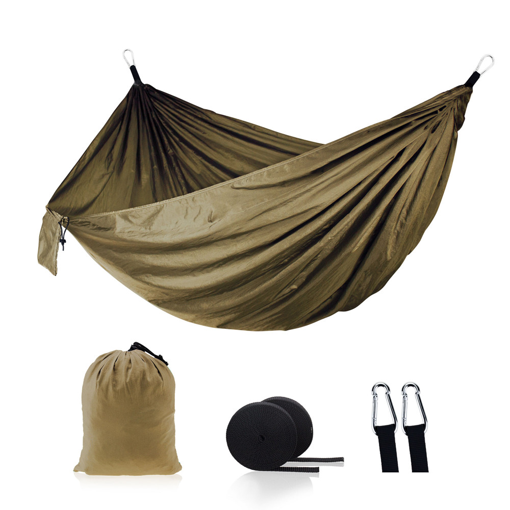 Honey Profession 7 Colors Carrying Nylon Cloth Parachute Hammock Garden Camping Survival Hunting Leisure Travel Hammock Double 270*140 Camping & Hiking Sleeping Bags