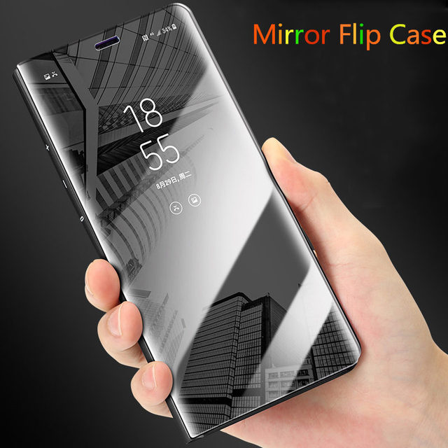 newest 02739 fe32d US $4.99 |For Samsung Galaxy Note 8 Clear View Mirror Case For note 8  Electroplated Mirror Flip Smart Sleep Leather Cover-in Flip Cases from ...