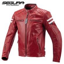SEGURA, натуральная кожа, куртка для мотоциклистов, локомотив, защитная куртка для мужчин, wo, мужская куртка для мотогонок, одежда, Одобрено CE